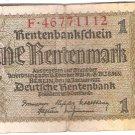 Germany 1 Rentenmark 112