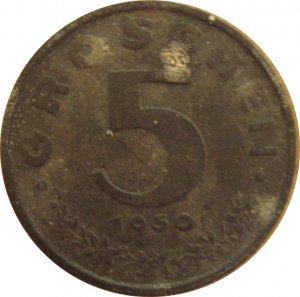 1950 Austria 5 Groschen