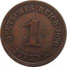 1890 A Germany 1 Pfennig