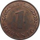 1950 D Germany 1 Pfennig