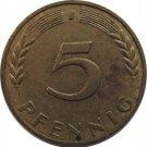 1950 J Germany 5 Pfennig