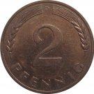 1969 D Germany 2 Pfennig