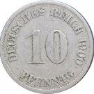 1900 J Germany 10 Pfennig