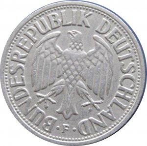 1950 F Germany 1 Mark