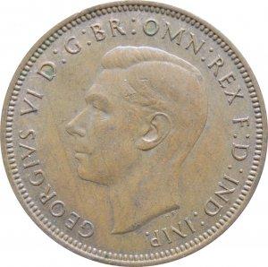1945 Great Britain Half Penny #2
