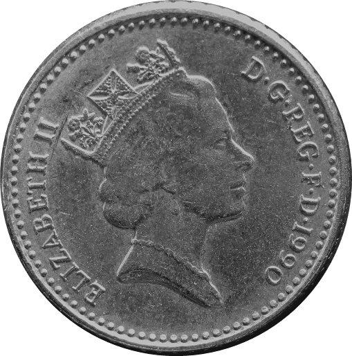 1990 Great Britain 5 Pence #2