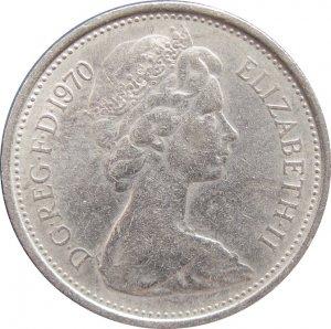 1970 Great Britain 5 Pence #3