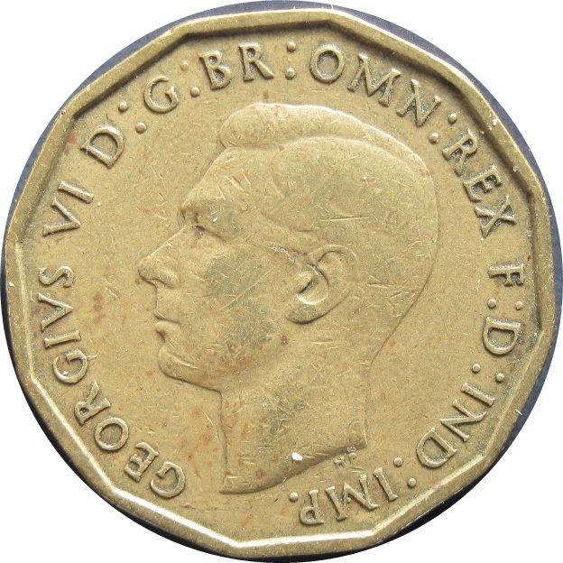 1944 Great Britain 3 Pence