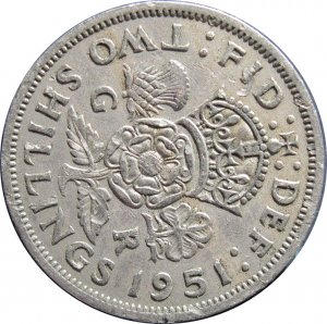 1951 Great Britain 2 Shilling