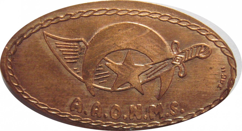 A.A.O.N.M.S. Masonic  Elongated Cent