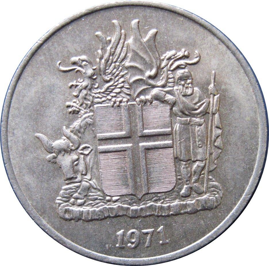 Iceland 1971 10 Kronur