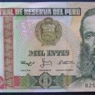 Peru, 1000 Inits 1988 Unc.  026Q