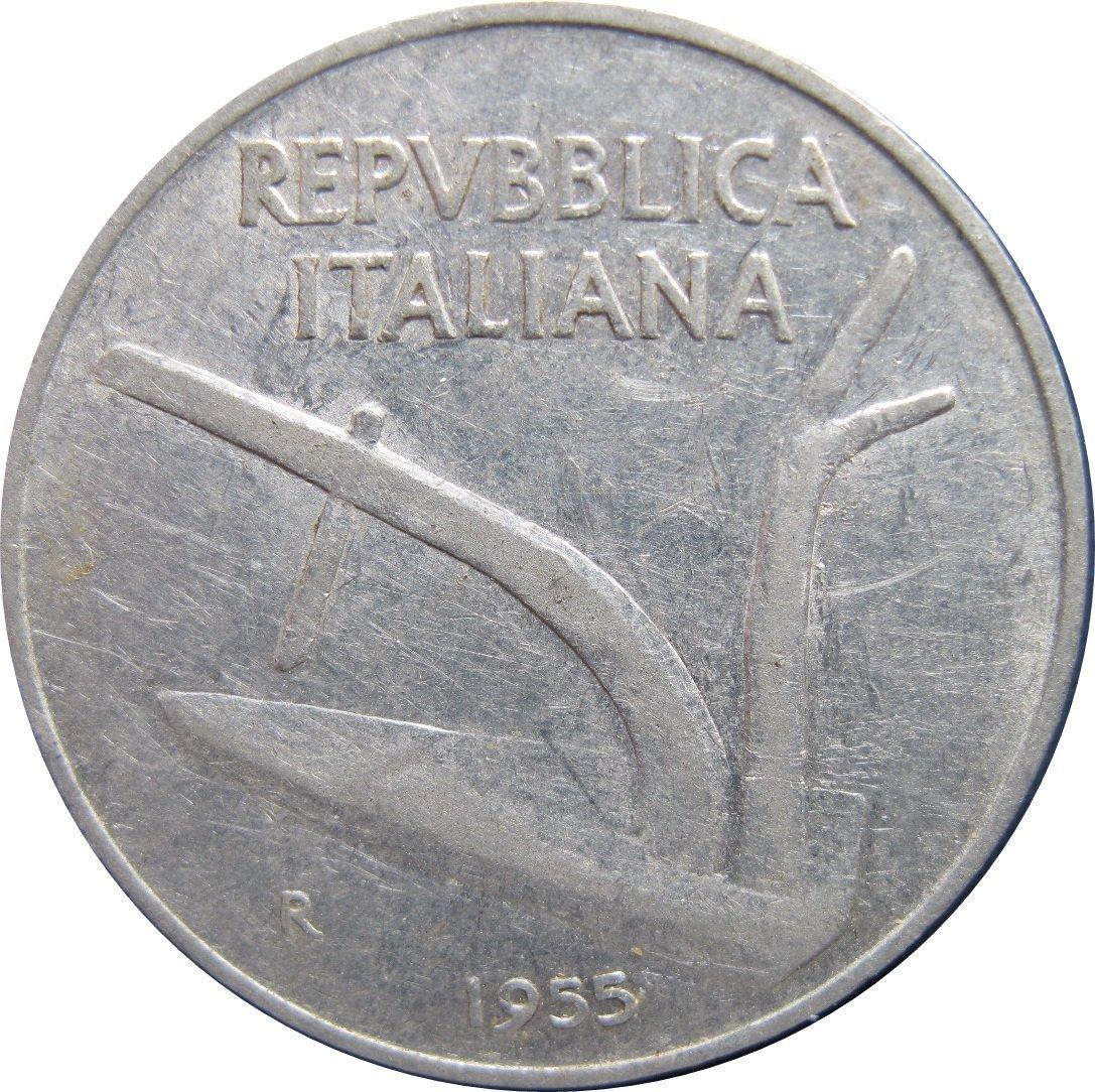 1955 Italy 10 Lire #3