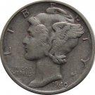 1940 S Mercury Dime Silver (36) DIE CRACK!