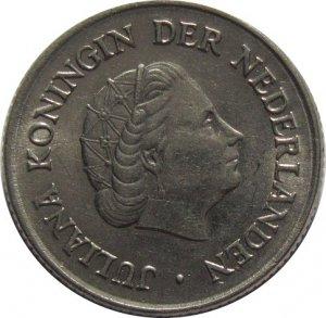 1954 Netherlands 25 Cents