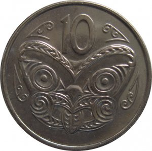 1970 New Zealand 10 Cents Proof Like