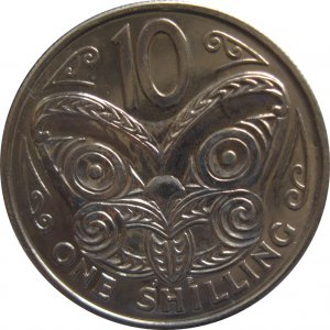 1969 New Zealand 10 Shilling Proof Like