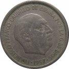 1957 Spain 5 Pesetas #62