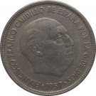 1957 Spain 5 Pesetas #69