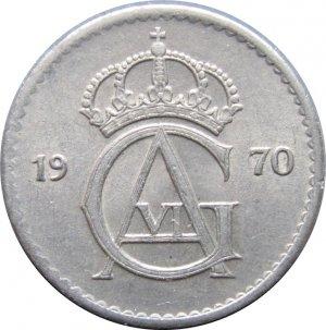 1970 Sweden 25 ORE