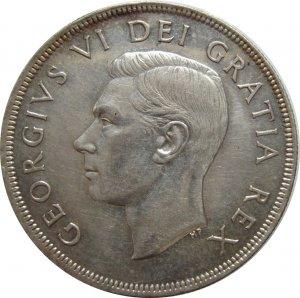 1950 Canadian Dollar SILVER