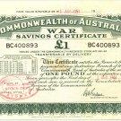 War Savings Certificate: One Pound, 1944 BC400893
