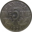 1922 Canadian 5 Cent