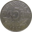 1927 Canadian 5 Cent