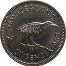 1965 New Zealand 6 Pence