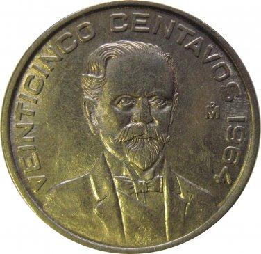 1964 Mexico 25 Centavo