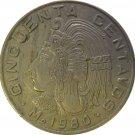 1980 Mexico 50 Centavos