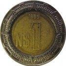 1995 Mexico 1 Peso