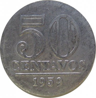1959 Brazil 50 Centavo