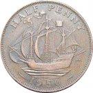 1950 Great Britain Half Penny