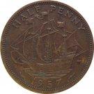 1957 Great Britain Half Penny