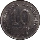 1956 Argentina 10 Centavo