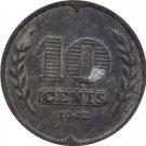 1942 Netherlands 10 Cents #2