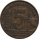 1944 Argentina 5 Centavo #2