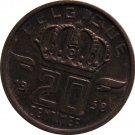 1958 Belguim 20 Centimes