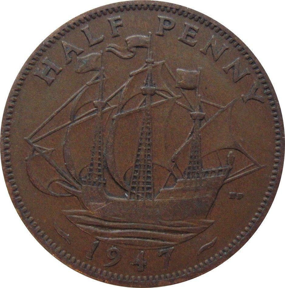 1947 Great Britain Half Penny