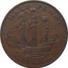 1947 Great Britain Half Penny