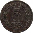 Malaya 1950 5 Cent