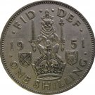 1951 Great Britain One Shilling