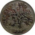 1955 Great Britain 6 Pence #2