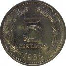 1958 Argentina 5 Centavo