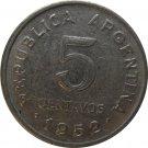 1952 Argentina 5 Centavo