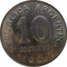 1954 Argentina 10 Centavo