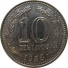 1958 Argentina 10 Centavo
