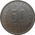 1953 Argentina 50 Centavo