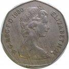 1980 Great Britain 50 Pence